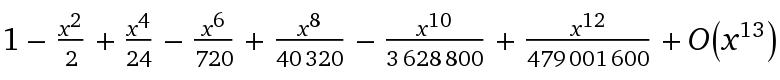 cosinus (i*x)